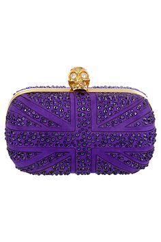 Alexander McQueen - Accessories - 2013 I love the color. Purple Love, All Things Purple, Shades Of Purple, Deep Purple, Chanel Handbags, Burberry Handbags, Purses And Handbags, Purple Handbags, Purple Purse