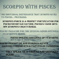 Scorpio And Pisces Man And Woman Love Compatibility Pisces Woman Scorpio Man, Pisces And Scorpio Compatibility, Scorpio And Pisces Relationship, Scorpio Love, Astrology Pisces, Zodiac Signs Scorpio, Scorpio Quotes, Scorpio Facts, Zodiac Facts