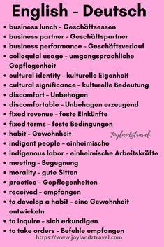 German Grammar, Learn English Grammar, German Words, Learn English Words, English Vocabulary, Vocabulary Words, Russian Language Learning, Foreign Language, German Resources