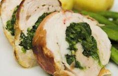 My HCG Recipes: Spinach Stuffed Chicken