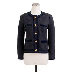 Lady jacket in double-serge wool