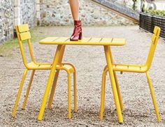 Luxembourg Square 80cm Table by Frederic Sofia for Fermob image