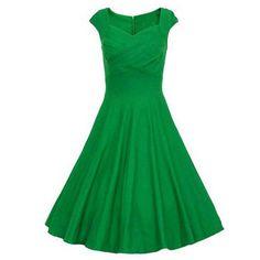 Dámské šaty retro krátké - zelené