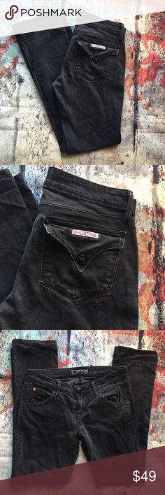 Hudson black straight leg Hudson black straight leg designer jeans 26 x 30 Hudson Jeans Jeans Straight Leg