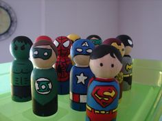 Kids Craft Blog by PlaidOnline.com - Web Wednesday: Superhero Pegs