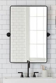 Home Bathroom Decor Bathroom Renos, Small Bathroom, Master Bathroom, Washroom, Upstairs Bathrooms, Tile Bathrooms, Bathroom Mirrors, Basement Bathroom, Bathroom Renovation Cost