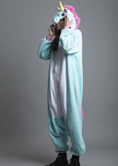 Unicorns are pretty much the most amazing creatures to ever exist and now the greatest Kigurumi to exist! The magical yellow horn will guide you through your wi