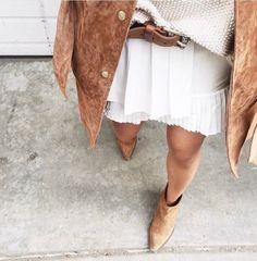 Suede tan + whites