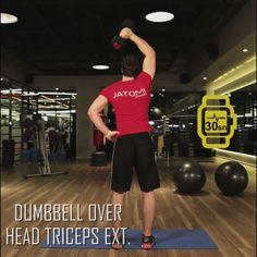 Jatomi Fitness ile 6 haftada fit olmaya ne dersiniz? 1. haftanın beşinci hareketi: DUMBBELL OVER HEAD TRICEPS EXT.