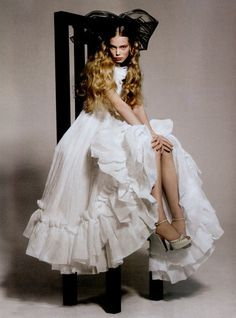 silte: Sweet Dreams - Tanya Dziahileva photographed by Sophia Sanchez and Mauro Mongiello forNuméro #70, February 2006