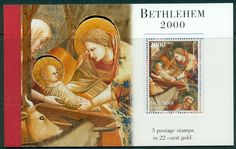 PALESTINE CHRISTMAS 2000 BOOKLET OF 3 STAMPS IN 22 CARAT ... - bidStart (item 57012708 in Stamps... Palestine)