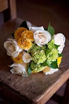 Yellow bridal bouquet by EK One Stop Studio, Los Angeles Make-up Artist and Wedding Photographer