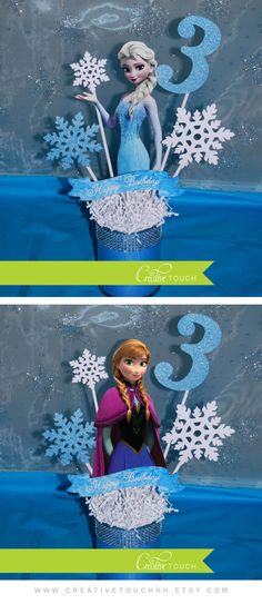 Frozen Centerpiece  Elsa Centerpiece Frozen Decorations | Etsy