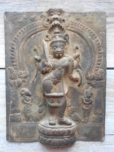 Antique Hindu Bronze Low Relief depicting Virabhadra.