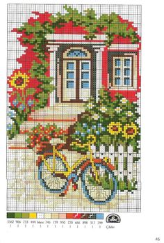 Handicrafts: Bicycles Embroidery / Cross stitch bicycles