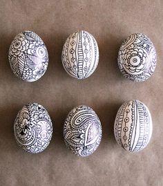 Best Easter Egg Decorating Ideas Sharpie Doodle Egg Alisa Burke