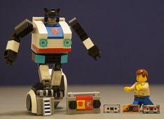 Autobot Jams by Hobbestimus Lego Transformers, Lego Minifigure Display, Lego Army, Lego Ship, Lego Mechs, Cool Lego Creations, Lego Models, Lego Projects, Lego Stuff