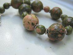Unakite Stone Beads!