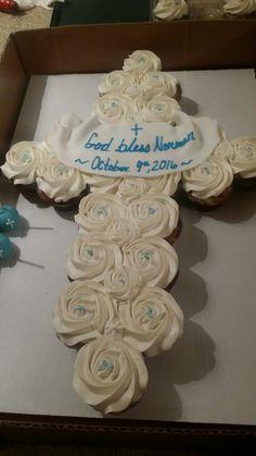 Baptism Cupcakes, Desserts, Food, Tailgate Desserts, Deserts, Essen, Postres, Meals, Dessert
