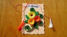 cadouri handmade - quilling art: martisoare 1 Quilling, Origami, Christmas Ornaments, Holiday Decor, Home Decor, Manualidades, Paper, Interior, Living Room