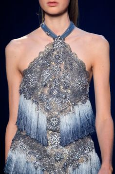 Marchesa, Spring 2017 - Glam New York Runway Details, Spring 2017 - Photos Couture Mode, Couture Fashion, Runway Fashion, Marchesa Spring, Couture Details, Fashion Details, Only Fashion, Fashion Show, Women's Fashion