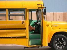 Photo by Repstock Old School Bus, School Buses, International Harvester Truck, Fishbowl, Vintage School, Busses, Cool Websites, Campers, Boats