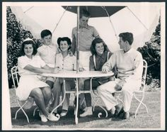 Patricia, Teddy, their mother Rose, Bobby, Eunice, and Jack Kennedy in the 1930's.