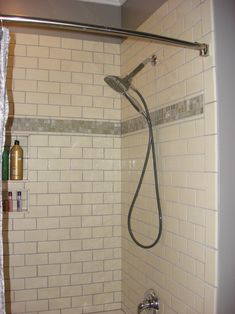 Bathroom Subway Tile Accent white subway tile bathroom | white subway tile. glass accent strip