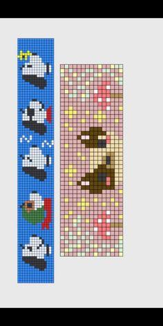 Hama Beads Patterns, Loom Patterns, Bracelet Patterns, Beading Patterns, Beaded Cross Stitch, Cross Stitch Embroidery, Cross Stitch Patterns, Perler Bead Art, Alpha Patterns