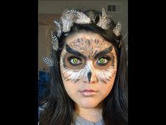 Halloween Owl Makeup Look - YouTube