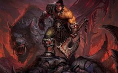 Warlords-of-draenor-Wallpaper-wow-World-of-Warcraft-orc-wolf-warrior-ax-chain-Warcraft-Grommash-Hellscream.jpg (1680×1050)