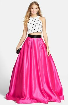 Sherri Hill Two-Piece Ball Gown available at #Nordstrom