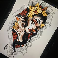 Tattoo Design Drawings, Cool Art Drawings, Tattoo Sketches, Neo Traditional Art, Traditional Tattoo Flash, American Traditional, Body Art Tattoos, Sleeve Tattoos, Hand Tattoos