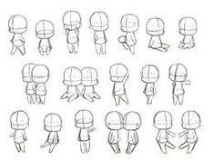 drawing chibi google body poses reference sitting