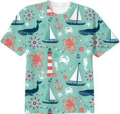 Nautical Aqua tshirt from Print All Over Me