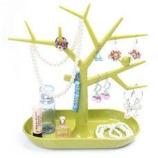 Dizájnos fa alakú ékszertartó. Alul tároló résszel a gyűrűk, felül ágakkal a fülbevalóknak, nyakláncoknak számára