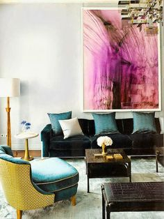 Glam living room : : teal and purple : : the zhush