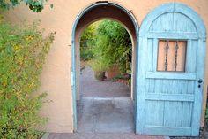 Entrance to the Sunken Gardens at La Posada Hotel Winslow AZ