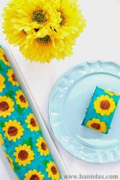 Haniela's: Frozen Fever Sunflower Cake Roll