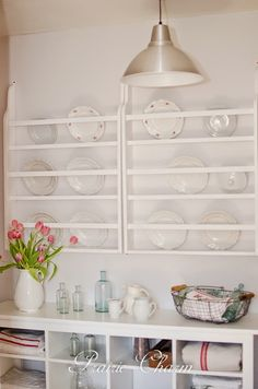 DIY Plate Rack and a Linkup! - All Things Heart and Home