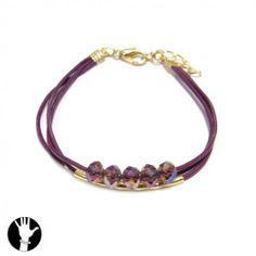 sg paris teenager bracelet bracelet 3 rows 16cm+ext gold pink glass SG Paris. $6.79