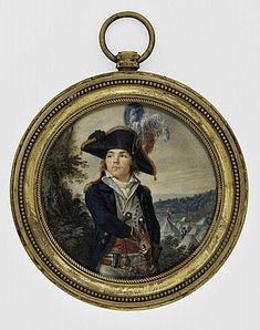 Miniature portrait of Général Cacault by anon.,1790s
