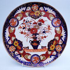 19th Century Ashworth Real Ironstone Staffordshire England Japanese IMARI Plate | eBay