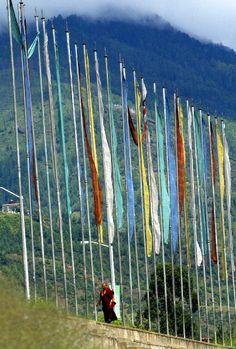 Prayer flags in Thimphu,