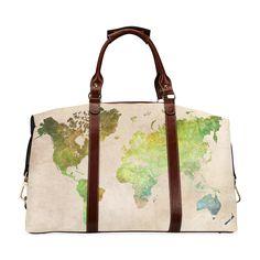world map 32 Classic Travel Bag (Model 1643).