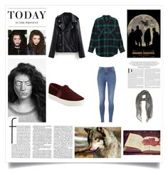 """Magnets"" by thaisa-tcs ❤ liked on Polyvore featuring Monki, Vince, BRIT*, Faliero Sarti, Levi's and Karl Lagerfeld"