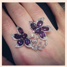 Amatista y diamantes