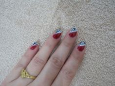 *Nail art -Red Zebra*