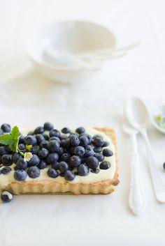 Local Farm Fresh Blueberries  and Mascarpone Tart   Au Petit Goût