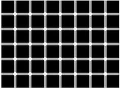 optical illusion black and white dots - Google Search